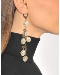 Marni - Pearls Mono Earring In Lilly White Metal - Lyst
