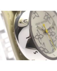 Louis Vuitton - White Tambour Q121c Qz Pure Enamel Belt Ladies Pre-owned - Lyst