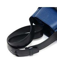 Louis Vuitton - Vintage Sac Depaule Pm Vio Blue & Black Epi Leather Shoulder Bag - Lyst