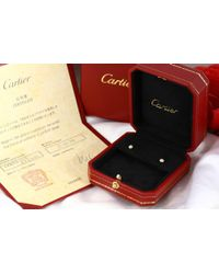 Cartier - Metallic Dierman Leger / 18k Yellow Gold / 750-1.0 G / (0.04 + 0.04) 2 Stones Total 0.80 Ct / B 830 1215 / Yellow Gold - Lyst