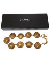 Chanel - Metallic Cc Mark Vintagenecklace Gold Metal 0252 - Lyst