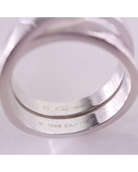 Cartier - Metallic 18k White Gold Silver Ring #23(jp Size) Mens - Lyst