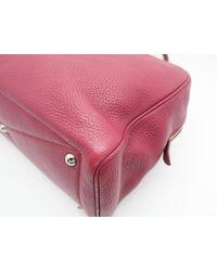 Hermès - Clemence Leather Victoria Shoulder Bag Ruby/ Red 6032 - Lyst