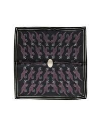 Paul Smith - Black Dino Petrol Woven Silk Men's Pocket Square for Men - Lyst