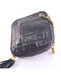 Chanel - Lambskin Black Shoulder Bag Women - Lyst