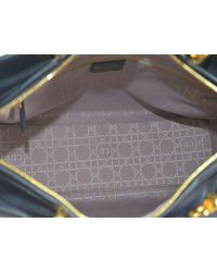 Dior - Purple Christian Cannage Lady Hand Bag Suede Leather - Lyst