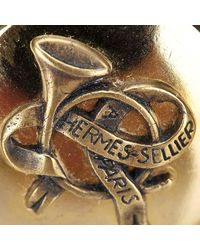 Hermès - Metallic Gold-tone Clip On Earrings - Lyst