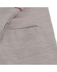 Paul Smith - Natural Knit Cardigan Beige M - Lyst