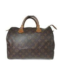 b3bd4227b822 Lyst - Louis Vuitton Speedy 30 Monogram Canvas Hand Bag M41526 in Brown