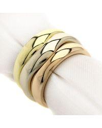 Cartier - Metallic 18k Gold Ring Love Milling 3 Color Set - Lyst
