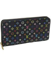 Louis Vuitton - Black Multi Color Zippy Wallet M60050 Noir /040104 - Lyst