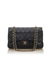 Chanel - Black Classic Medium Double Flap Bag - Lyst