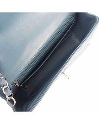 Chanel - Chain Shoulder Bag Mini-matelasse Lambskin Blue Gray Shw [used] - Lyst
