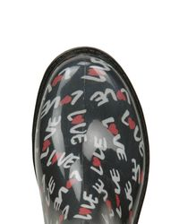 Moschino | Blue Rubber Rain Boots | Lyst