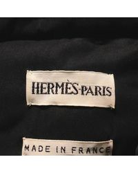 Hermès - Coat Black 40 - Lyst