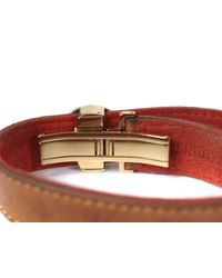 Louis Vuitton - Monogram Brown Leather Bracelet - Lyst