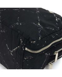 Chanel - Travel Line Black X White Nylon Waterproof Hand Bag - Lyst