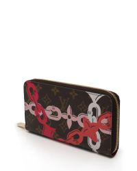 Louis Vuitton - Brown Zippy Wallet Round Zipper Purse Monogram Bay Tea Fuchsia - Lyst