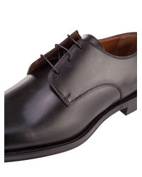 Givenchy - Black Rider Shoes In Calfskin With Red Stripe On The Heel And Engraved Logo for Men - Lyst