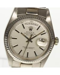 Rolex - Metallic Day Date 1803/9 K18wg Automatic Cal.1556 Mens Box ・ Keep Pre-owned for Men - Lyst