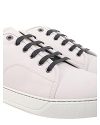 Lanvin - White Leather Sneakers for Men - Lyst