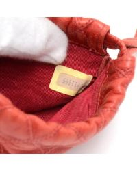 Chanel - Vintage Red Quilted Leather Mini Pouch - Lyst