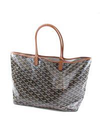 Goyard - Brown Pvc Tote Bag Saint-louis Pm - Lyst
