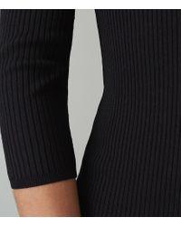 Reiss - Blue Aletti - V-neck Knitted Dress - Lyst