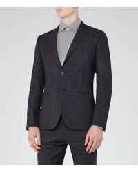 Reiss   Blue Hank Check Slim Fit Blazer for Men   Lyst
