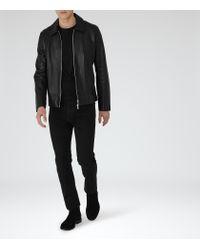Reiss - Black Benares Slim-fit Jeans for Men - Lyst