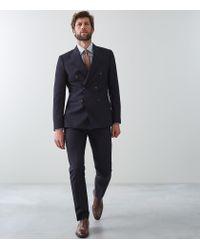 Reiss Blue Bamburgh - Double Breasted Blazer for men