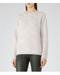 Reiss | Multicolor Wesley Jacquard Jumper | Lyst