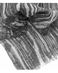 Reiss - Black Jonnie Linen And Cotton Scarf - Lyst