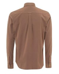 Belstaff - Brown Steadway Shirt, Tilted Chest Pocket Ash Rose Pink Shirt for Men - Lyst