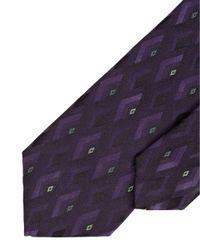 Armani - Tie, Purple Diamond Geometric Silk Tie for Men - Lyst