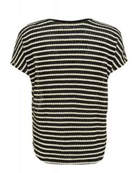 Velvet By Graham & Spencer - Black And White Popcorn Stripe Greer 02 Top - Lyst