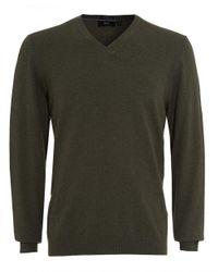 BOSS Black - Fillpp-o Jumper, Khaki Green Sweater for Men - Lyst