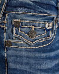 True Religion - Blue Geno Super T Slim Leg Worn Rebellion Jeans for Men - Lyst