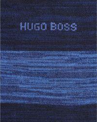 BOSS Black - Rs Design Navy Blue Striped Sock for Men - Lyst