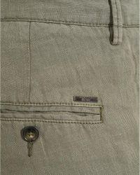 BOSS Black - Crigan-short, Olive Green Regular Fit Linen Shorts for Men - Lyst