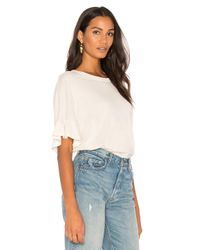 The Great | White The Ruffle Sleeve Tee | Lyst