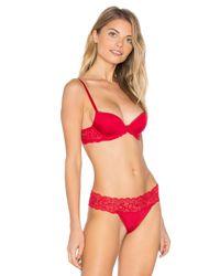 Calvin Klein - Red Seductive Comfort Demi Lift Multiway Bra - Lyst