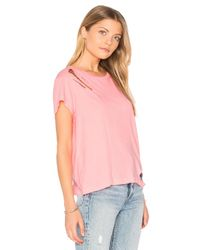 Wildfox - Pink Destroyed Tee - Lyst