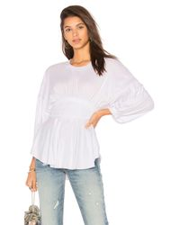 Free People | White Time Traveler Top | Lyst