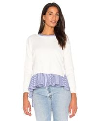Endless Rose - Blue Sweater Combo Stripe Top - Lyst