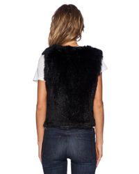 525 America | Black Rabbit Fur Vest | Lyst