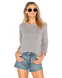 Monrow - Gray Super Soft Sweatshirt - Lyst