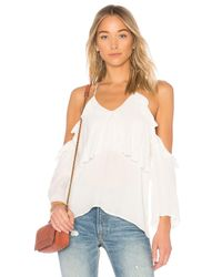 PAIGE - White Luciana Top - Lyst