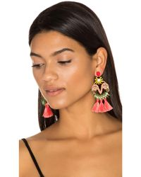 Elizabeth Cole - Multicolor Tassel Earrings - Lyst