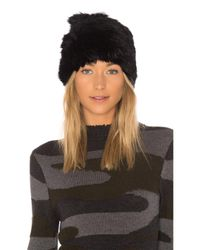 Hat Attack - All Rabbit Slouchy Beanie With Fur Pom In Black. - Lyst